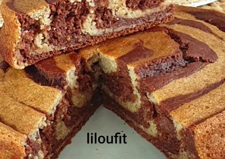 La Recette Pas à Pas Gâteau au chocolat zébré sans matière grasse