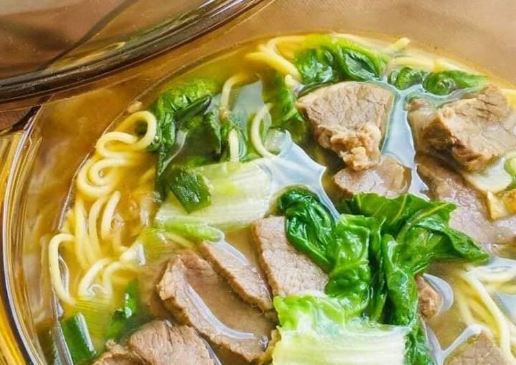 Resipi Mee Sup Daging Chinese Style Oleh Zura Zura Cookpad