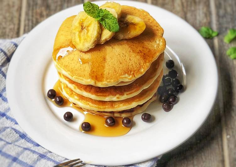 Resep Pancake Egg Less Oleh Eve Simple Cooking Cookpad