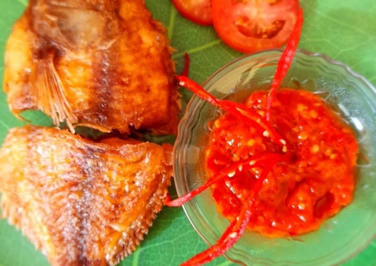 Ikan Nila goreng sambal tomat
