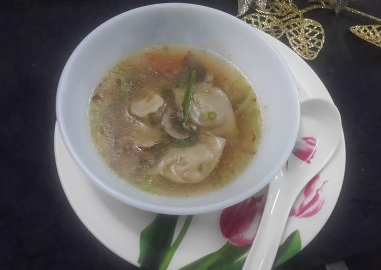 Simple Way to Prepare Award-winning Veg Wonton soup