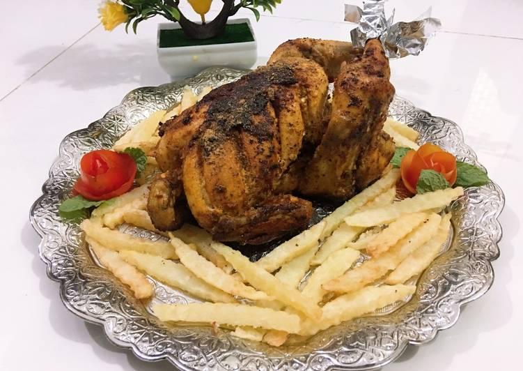 Easiest Way to Prepare Tasty 🍗🍟🐔Chicken Roast 🍗🍟🐔
