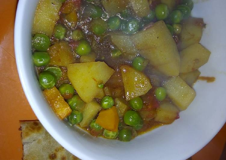 Peas stew with chapati #vegan contest