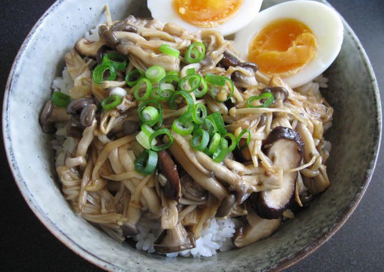 Steps to Prepare Most Popular Asian Mushroom Rice Bowl