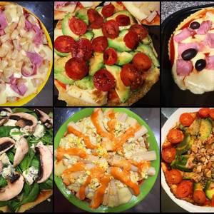 Pizza de avena al microondas light! Masa de pizza, 6 opciones!