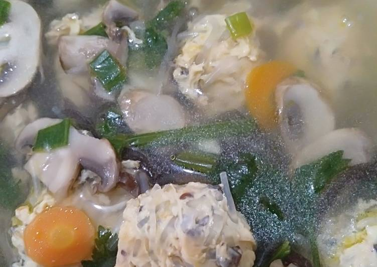 Resep Sup bakso serabut Yang Gampang Sedap