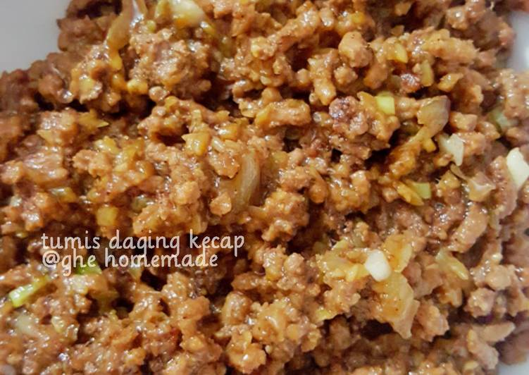 Resep Tumis daging kecap untuk filling roti/bakpao Paling Top