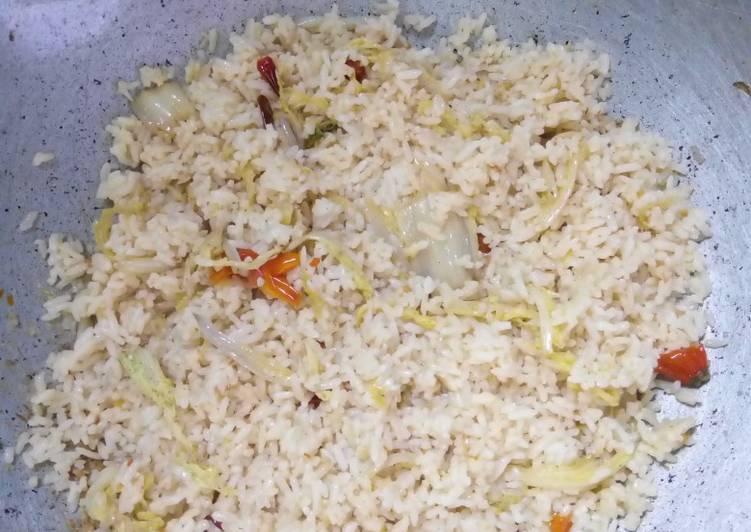 Nasi goreng with sawi putih pedas