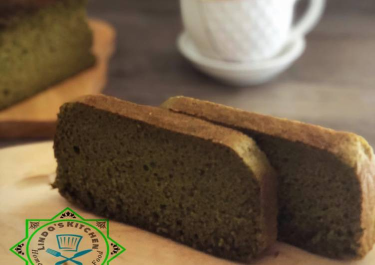 Recipe of Homemade Matcha castella cake