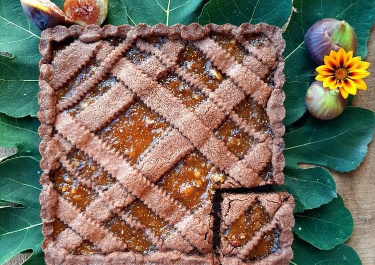 Ricetta Crostata al cacao con fichi