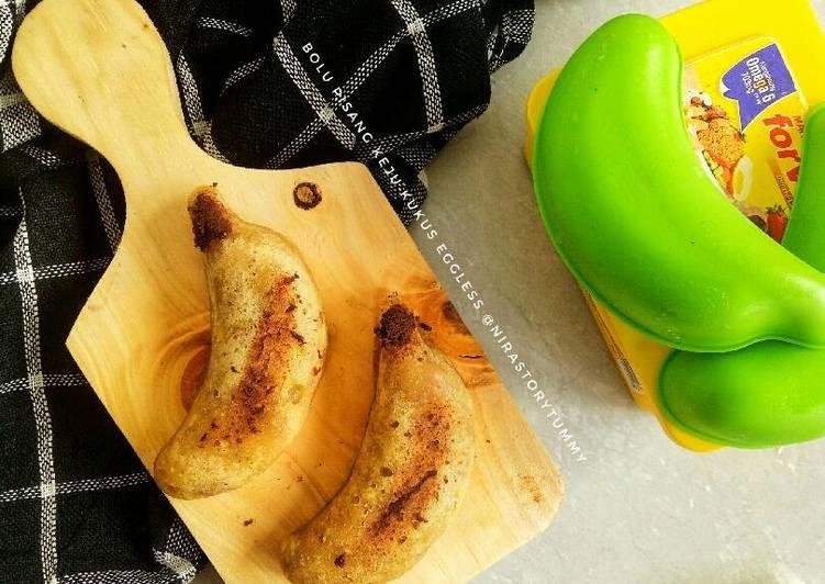 cara masak Bolu pisang keju kukus eggless - Sajian Dapur Bunda