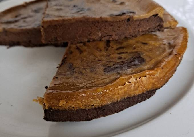 Duo cheese cake brownie sans beurre