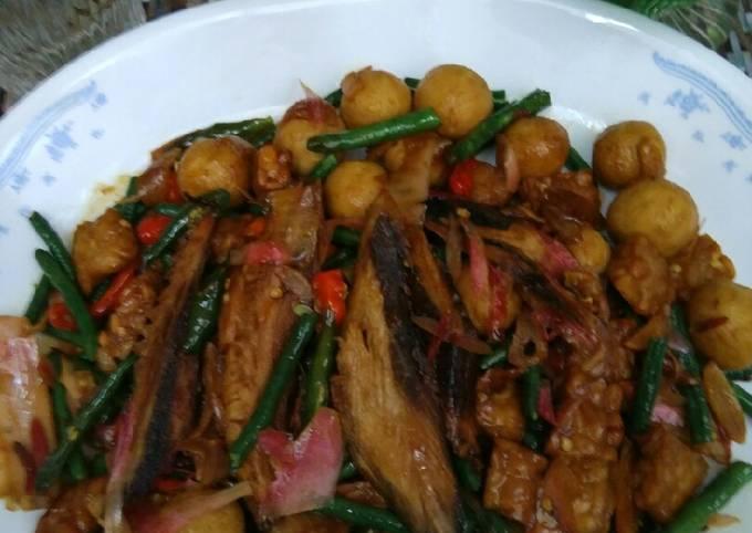 Resep Dan Cara Memasak Tumis Tempe Tongkol Tahu Bulat kecombrang Kacang Panjang Enak banget