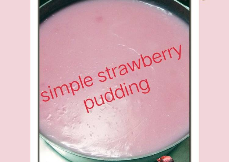 Simple Strawberry Pudding