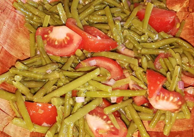 Salade d'haricots verts et tomates