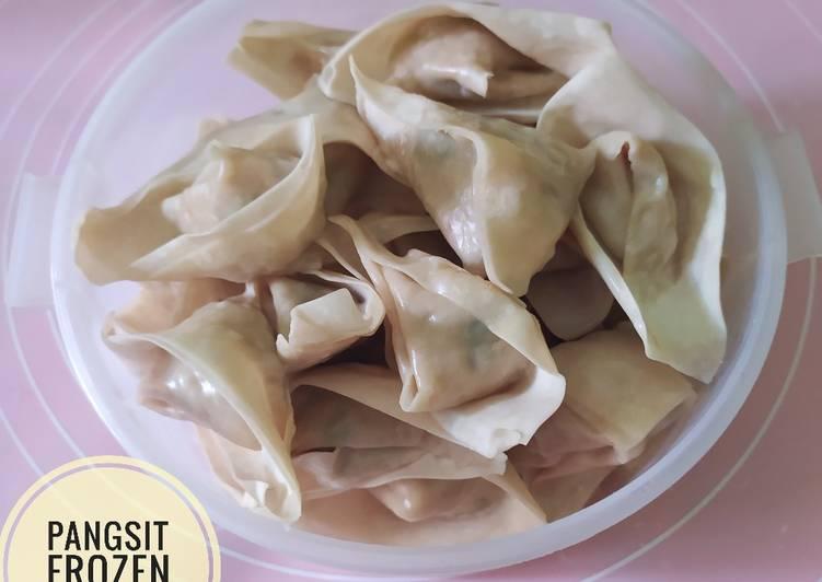 Pangsit Isi Ayam Udang (buat stok frozen food) #205🎗
