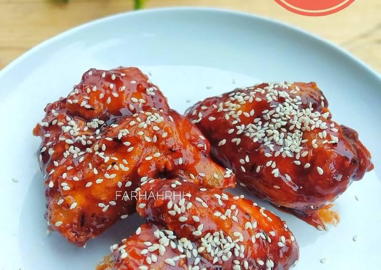Fire Chicken Wings Ala (Richeese, Bonchon, Kyochon)