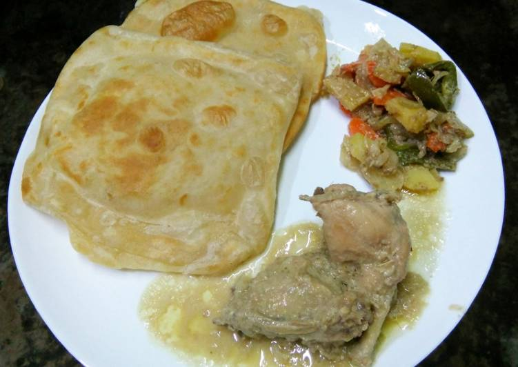 Try Using Food to Elevate Your Mood Maida wali Rectangle paratha