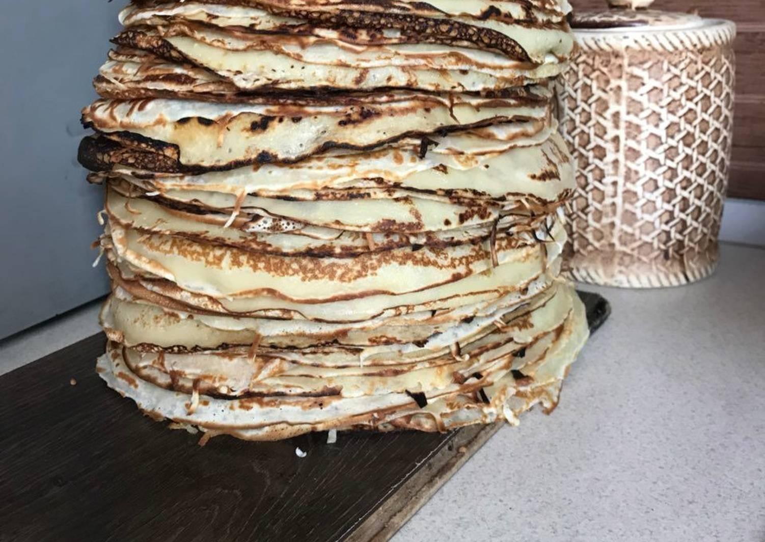 Мраморные блинчики рецепт с фото