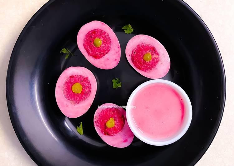 Beetroot pickled Devilled Eggs