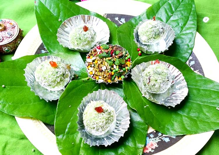 Step-by-Step Guide to Prepare Favorite Coconut paan ladoo