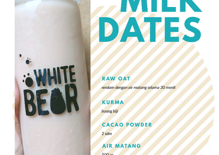 Oat Milk Dates