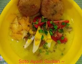 Soto Ayam Santan (Soto Kuning Bogor)