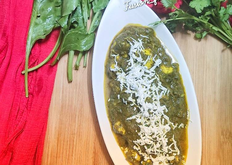 Recipe of Top-Rated Palak paneer