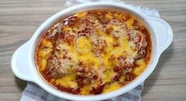 Hình ảnh món Thịt viên sốt cà chua phô mai siêu đơn giản (THỊT VIÊN ĐÚT LÒ)