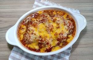 Thịt viên sốt cà chua phô mai siêu đơn giản (THỊT VIÊN ĐÚT LÒ)