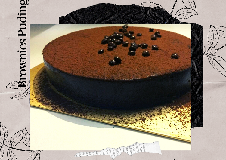 Puding Brownies enak nyoklat banget