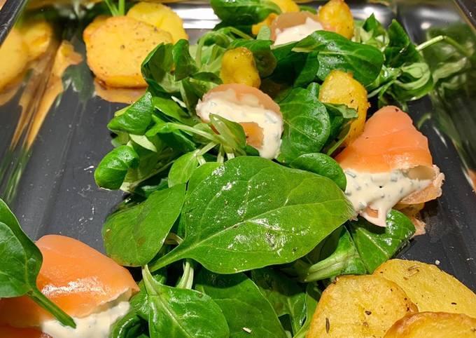 Ofenkartoffeln mit Salat 🥬