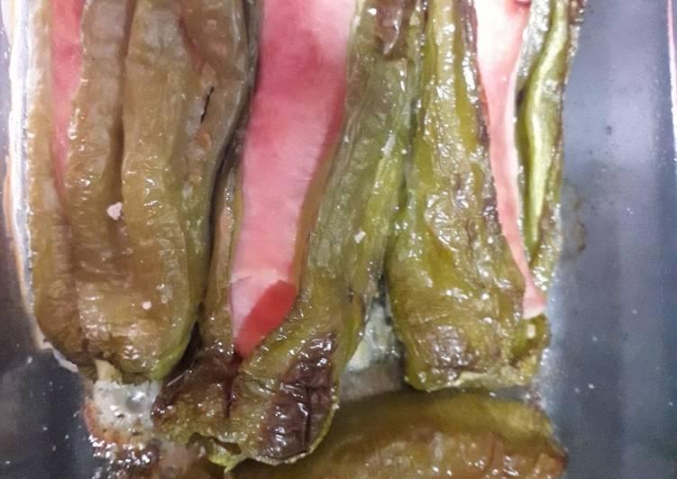 Pimientos Verdes Rellenos De Jamón York Y Queso Receta De