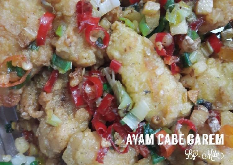 Resep Ayam cabe garam yang Enak
