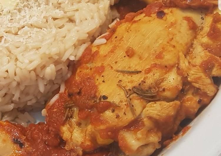 Pollo marinato con salsa piccante