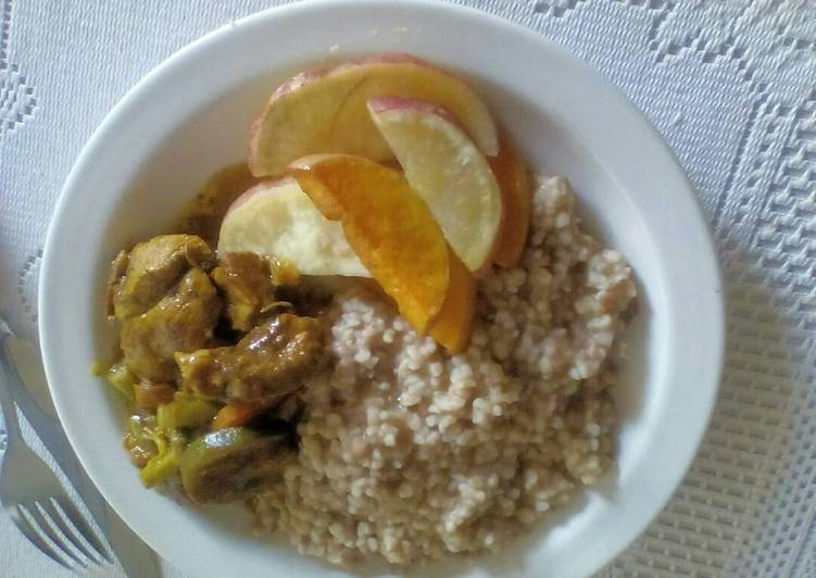 Mealie Rice in Bean Sauce Finding Healthful Fast Food
