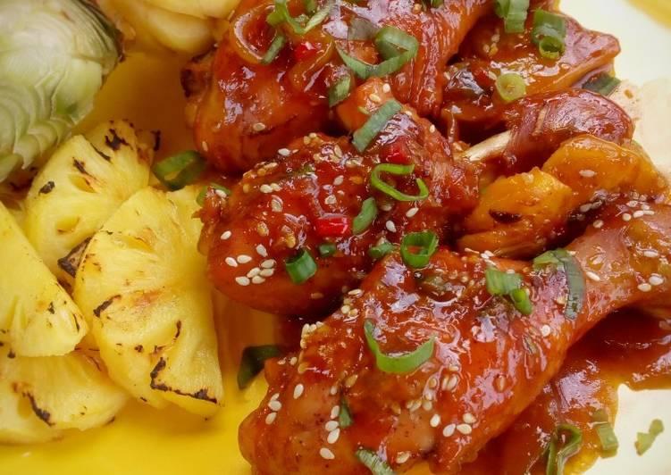 Paha Ayam Panggang dengan Madu Nanas
