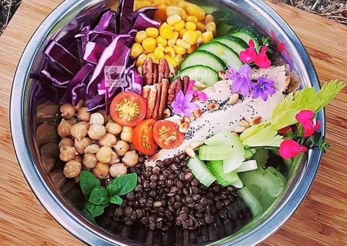 Buddhah bowls, la salade qui se mange d'abord avec les yeux..