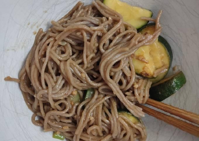 Super Garlicky Soba Noodles
