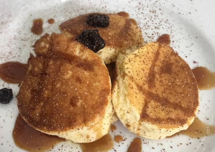 Resep Fluffy Pancake ala jepang Paling Mudah