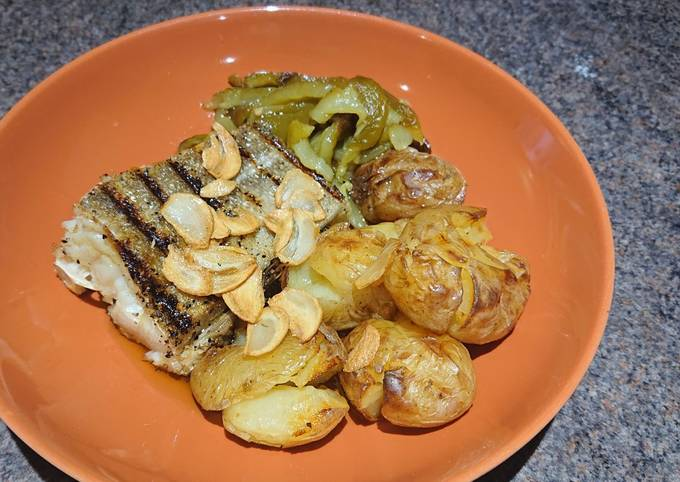Roasted Cod with Smashed Potatoes