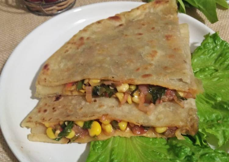 Easiest Way to Make Perfect Spinach Corn Quesadilla