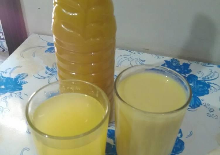 Mango banana shake and mango squash