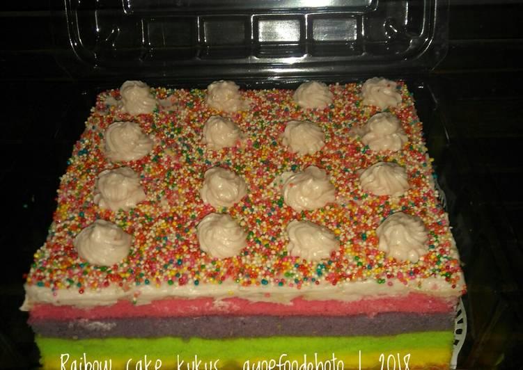 (Salin dari) Steam rainbow cake