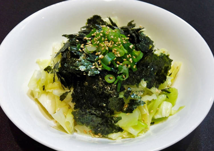Recipe of Top-Rated Cabbage & Nori Salad