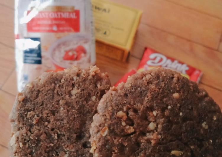 Cookies Coklat Oatmeal (Tanpa Oven)