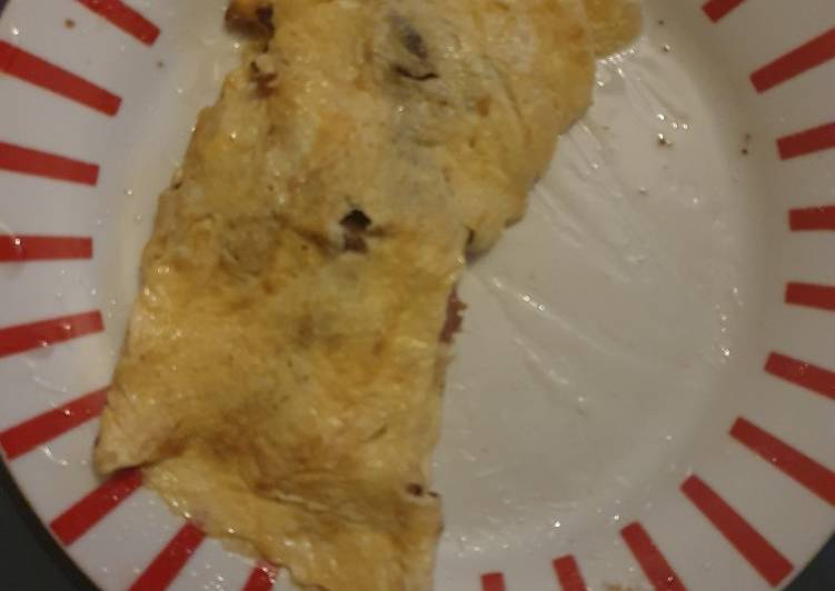 Bacon and Mushroom Omelette