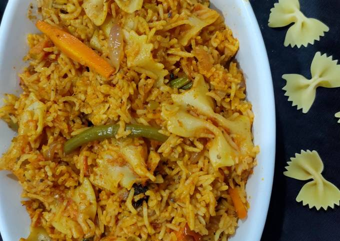 Vegetable and pasta pulao