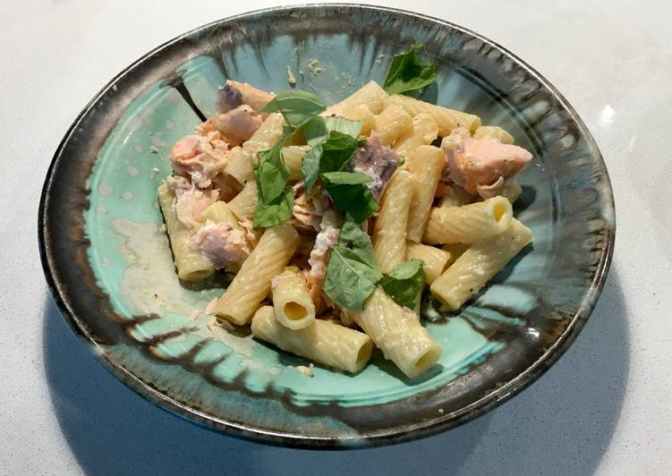 Steps to Prepare Quick Salmon Pasta with Lemon-Parmesan Sauce