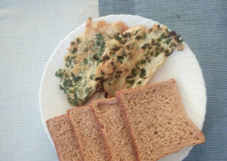 Recipe of Super Quick Homemade Spring onion breakfast